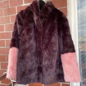 H&M faux fur jacket size 8